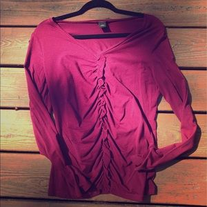 Anne Taylor long sleeve tee with ruffle detail L